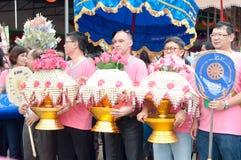 Ceremoni för ämbetsdräkt för Kathine ceremoni också erbjudande Royaltyfria Bilder