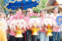 Ceremoni för ämbetsdräkt för Kathine ceremoni också erbjudande Arkivfoton