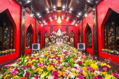 Ceremoni för Makhabucha buddismstearinljus Royaltyfri Foto