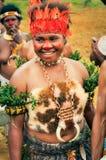 Ceremoni för traditionell dans i Papua Nya Guinea Arkivbild