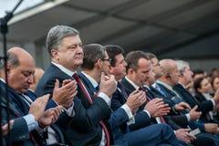 Ceremoni för fångenskap för Tjernobyl reaktornummer 4 Royaltyfri Foto