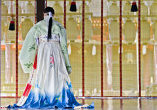 Ceremoni på den Yasaka relikskrinen, Kyoto Royaltyfria Bilder