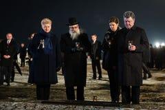 Ceremoni som är hängiven till den 70th årsdagen av befrielsen av Ausc Arkivbilder