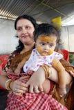 ceremoni som äter första india rice Royaltyfri Bild