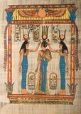 ceremoni som visar den egyptiska papyrusen Royaltyfri Foto