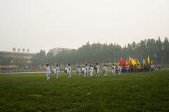 ceremoni spelar öppningsskolor fotografering för bildbyråer
