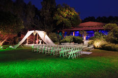 Ceremonia żydowski ślubny baldachim (chuppah lub huppah) Zdjęcie Royalty Free