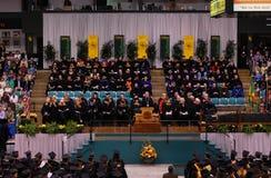 Ceremonia 2010 de graduación de la universidad de Clarkson Foto de archivo