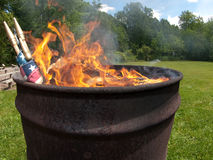 Ceremonia ardiente de la bandera Foto de archivo libre de regalías