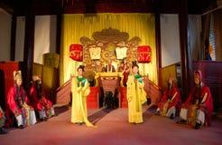 Ceremonia china de la corte del asimiento del emperador imágenes de archivo libres de regalías