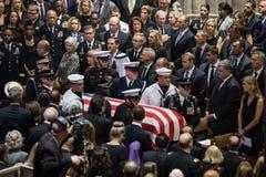 Ceremonia conmemorativa de U S Senador Juan McCain fotos de archivo libres de regalías