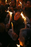ceremonia cud pożarniczy święty Obraz Royalty Free