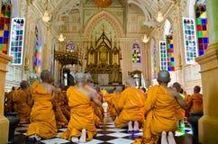 Ceremonia de Atriculation del monje budista Fotografía de archivo