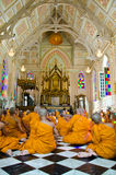Ceremonia de Atriculation del monje budista Fotografía de archivo libre de regalías