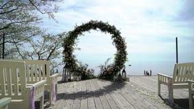 Ceremonia de boda al aire libre almacen de metraje de vídeo
