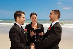 Ceremonia de boda alegre Foto de archivo libre de regalías