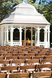 Ceremonia de boda en jardín Fotos de archivo