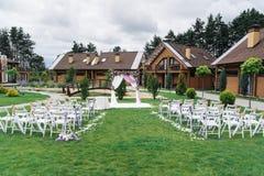 Ceremonia de boda hermosa al aire libre Imágenes de archivo libres de regalías