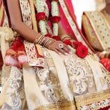 Ceremonia de boda hindú asombrosa Detalles de la boda india tradicional imágenes de archivo libres de regalías