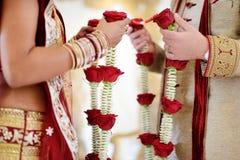 Ceremonia de boda hindú asombrosa Detalles de la boda india tradicional foto de archivo libre de regalías
