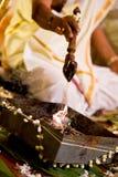 Ceremonia de boda india hindú Fotografía de archivo libre de regalías