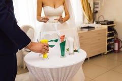 Ceremonia de boda de la arena Imagenes de archivo