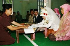 Ceremonia de boda musulmán Foto de archivo