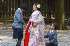 Ceremonia de boda sintoísta japonesa Imágenes de archivo libres de regalías