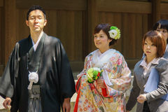 Ceremonia de boda sintoísta japonesa Fotos de archivo libres de regalías