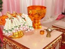 Ceremonia de boda tailandesa Fotografía de archivo libre de regalías