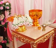Ceremonia de boda tailandesa Foto de archivo libre de regalías