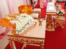 Ceremonia de boda tailandesa Imágenes de archivo libres de regalías