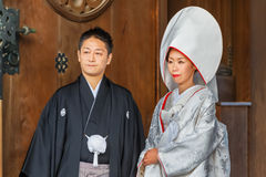 Ceremonia de boda tradicional japonesa Foto de archivo