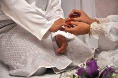 Ceremonia de boda tradicional malaya Fotos de archivo libres de regalías