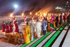 Ceremonia de Ganga Aarti Fotografía de archivo libre de regalías