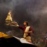 Ceremonia de Ganga Aarti Imagenes de archivo