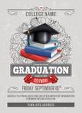 Ceremonia de graduación stock de ilustración