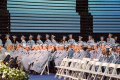 Ceremonia de graduación en la Escuela de Negocios de Columbia Imágenes de archivo libres de regalías