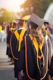 Ceremonia de graduación de la universidad fotografía de archivo