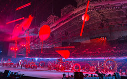 Ceremonia de inauguración de los Juegos Olímpicos de Sochi 2014 Foto de archivo libre de regalías