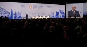 Ceremonia de inauguración del foro económico internacional de St Petersburg foto de archivo