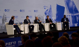 Ceremonia de inauguración del foro económico internacional de St Petersburg foto de archivo libre de regalías