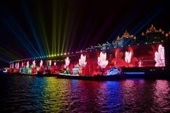 Ceremonia de inauguración Guangzhou China de 2010 Juegos Asiáticos fotografía de archivo
