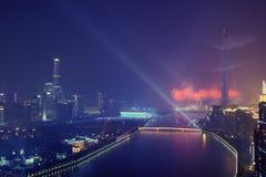 Ceremonia de inauguración Guangzhou China de 2010 Juegos Asiáticos foto de archivo