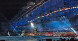 Ceremonia de inauguración de los Juegos Olímpicos de Sochi 2014 Fotografía de archivo libre de regalías