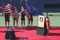 Ceremonia de inducción para el champi del Grand Slam de diez veces Fotos de archivo