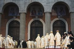 Ceremonia de la consagración de la catedral nacional de Romania's imágenes de archivo libres de regalías