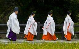 Ceremonia de la cosecha del arroz Imagen de archivo libre de regalías