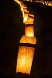 Ceremonia de la luz de una vela fotografía de archivo libre de regalías