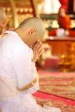 Ceremonia de la ordenación, monje Imagenes de archivo